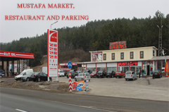Restaurant, shop and parking Mustafa on a motorway Maritsa